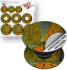 Decal Style Vinyl Skin Wrap 3 Pack for PopSockets Vincent Van Gogh Alyscamps (POPSOCKET NOT INCLUDED) by WraptorSkinz