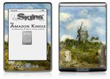 Vincent Van Gogh Blut Fin Windmill - Decal Style Skin (fits 4th Gen Kindle with 6inch display and no keyboard)