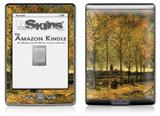 Vincent Van Gogh Lane With Poplars - Decal Style Skin (fits 4th Gen Kindle with 6inch display and no keyboard)